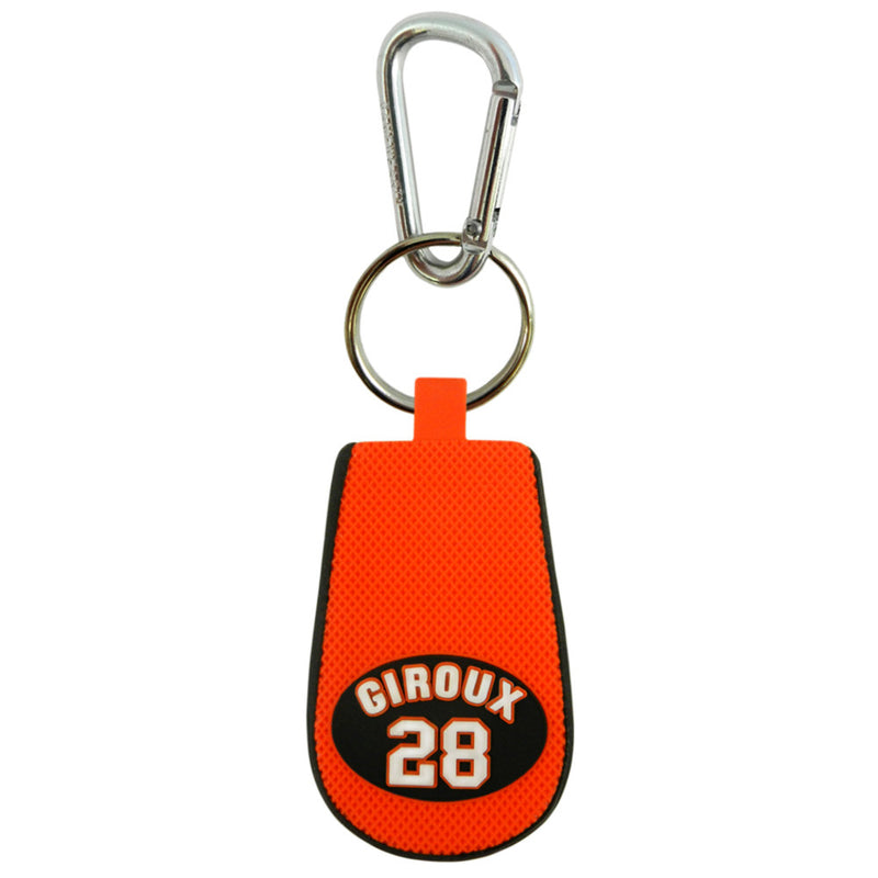 Philadelphia Flyers Keychain Team Color Jersey Claude Giroux Design