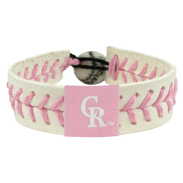 Colorado Rockies Bracelet Pink Baseball