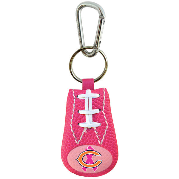 Chicago Bears Keychain Breast Cancer Awareness Ribbon Pink Football
