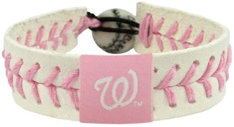 Washington Nationals Bracelet Baseball Pink