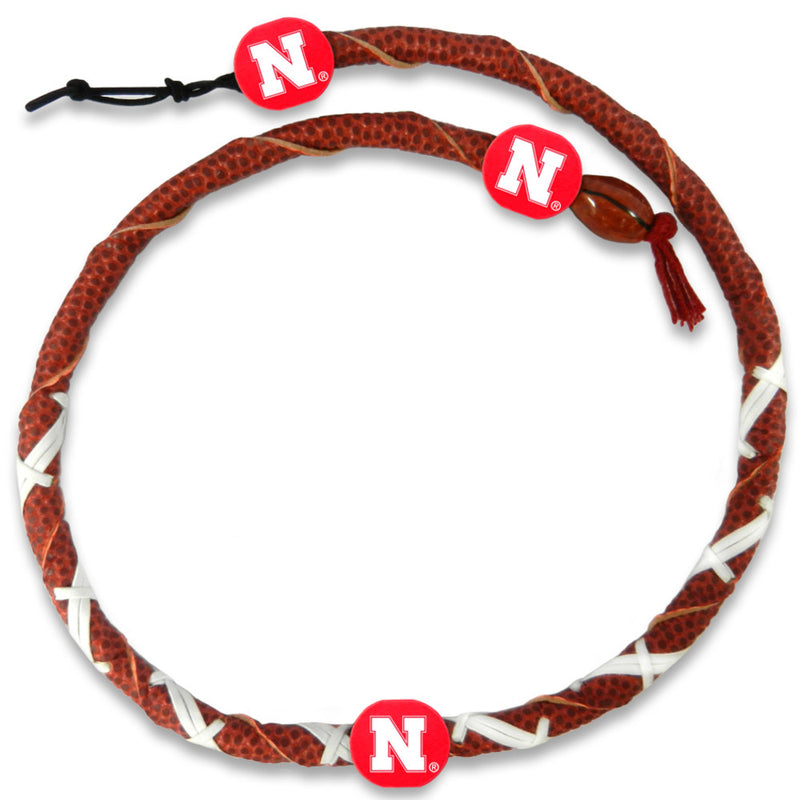 Nebraska Cornhuskers Spiral Football Necklace