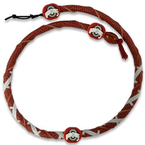 Ohio State Buckeyes Necklace Spiral Football