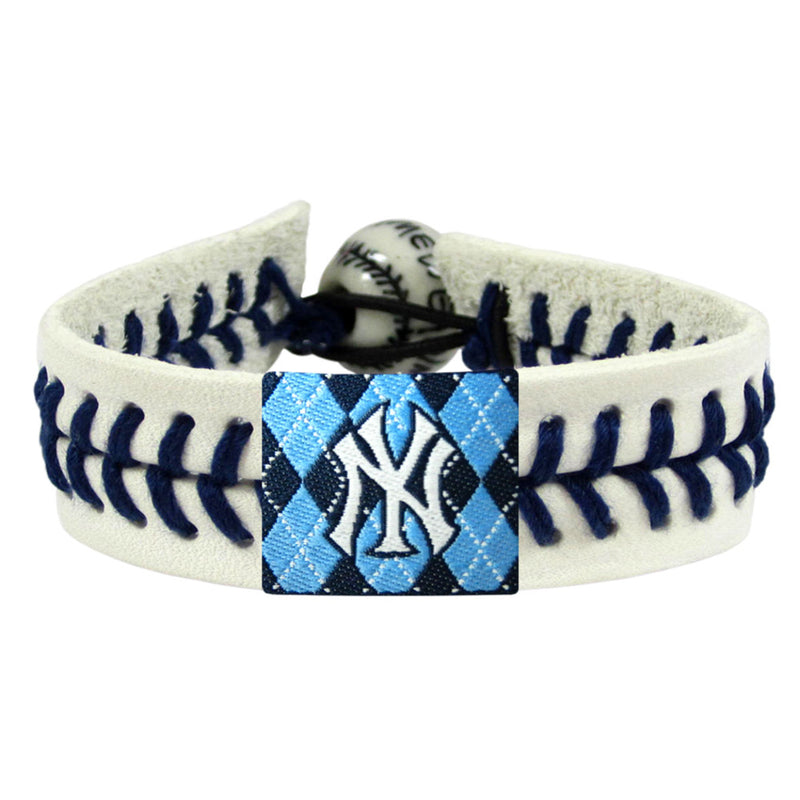 New York Yankees Bracelet Genuine Baseball Argyle