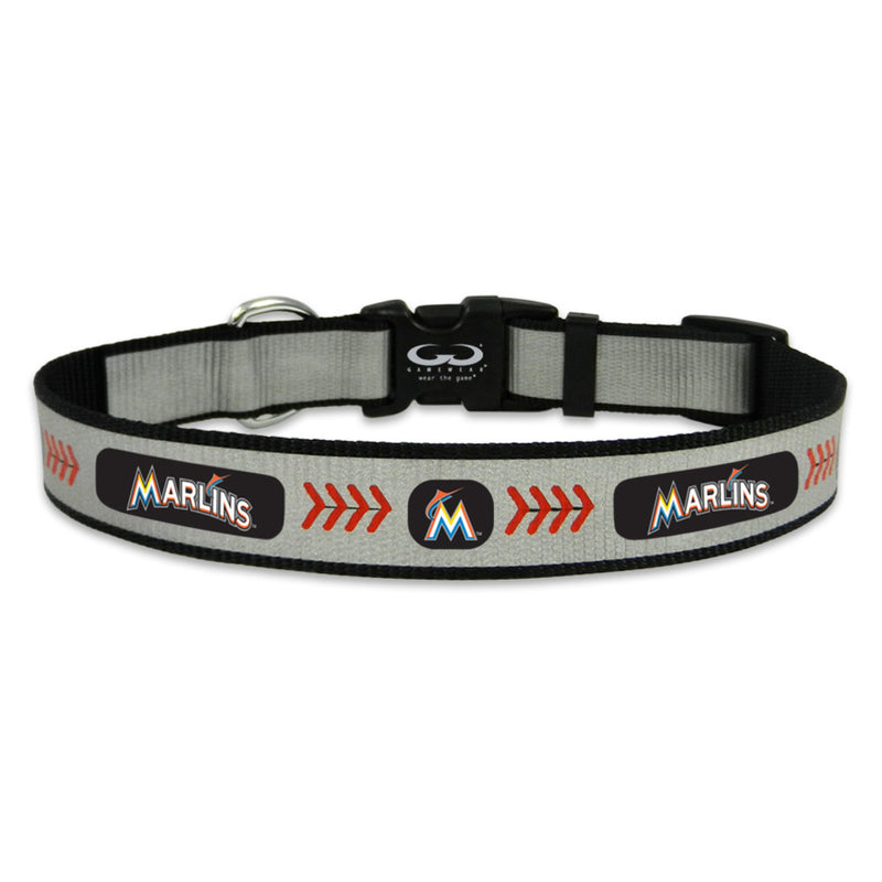 Miami Marlins Pet Collar Reflective Baseball Size Large