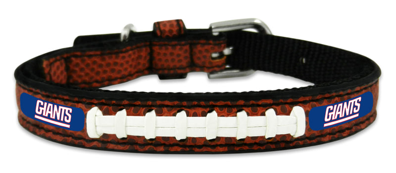 New York Giants Classic Leather Toy Football Collar