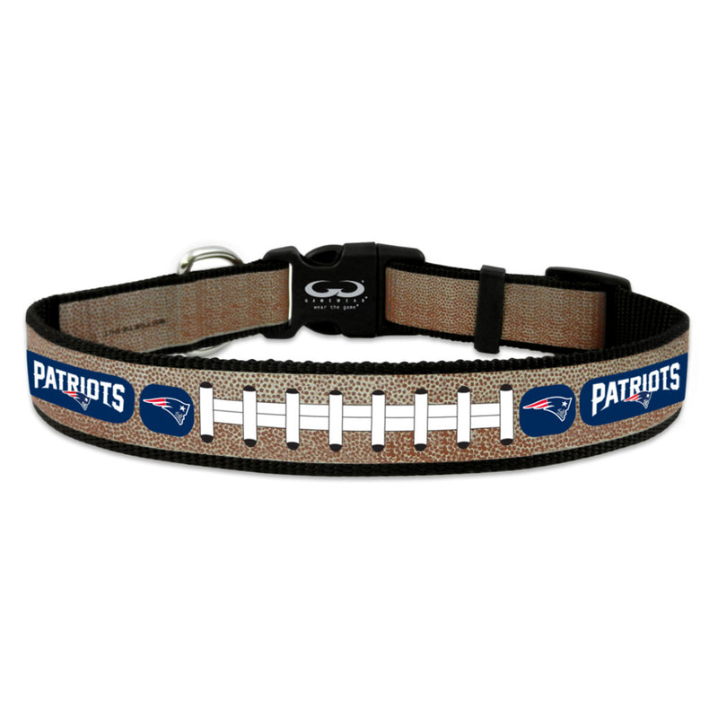 New England Patriots Pet Collar Reflective Football Size Toy