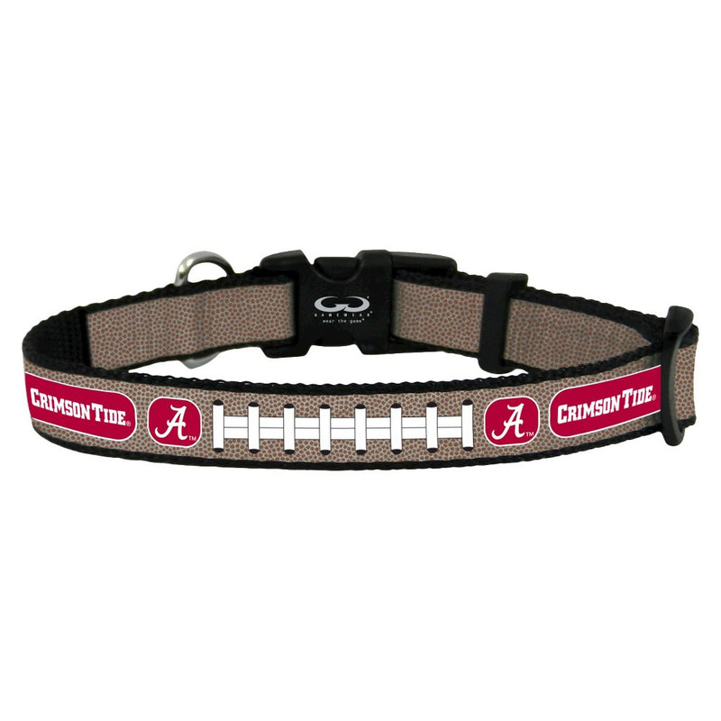 Alabama Crimson Tide Pet Collar Reflective Football Size Toy