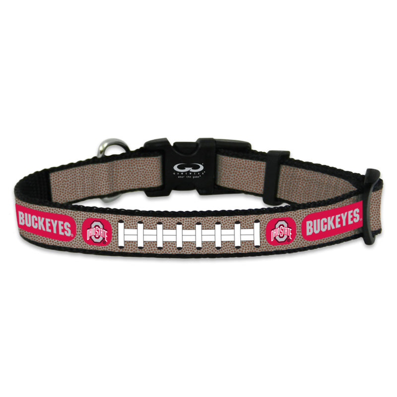 Ohio State Buckeyes Pet Collar Reflective Football Size Toy