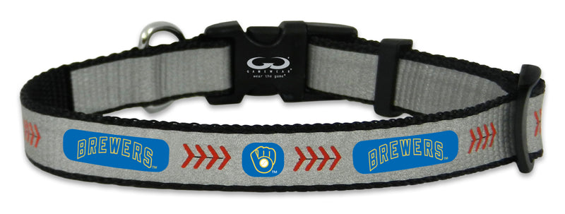 Milwaukee Brewers Retro Reflective Toy Baseball Collar
