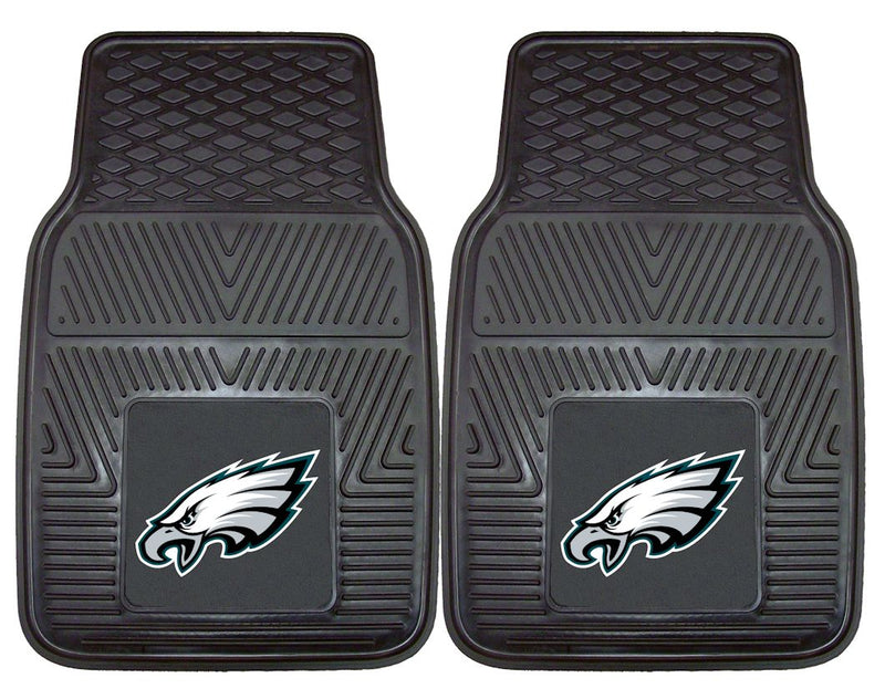 Philadelphia Eagles Car Mats Heavy Duty 2 Piece Vinyl