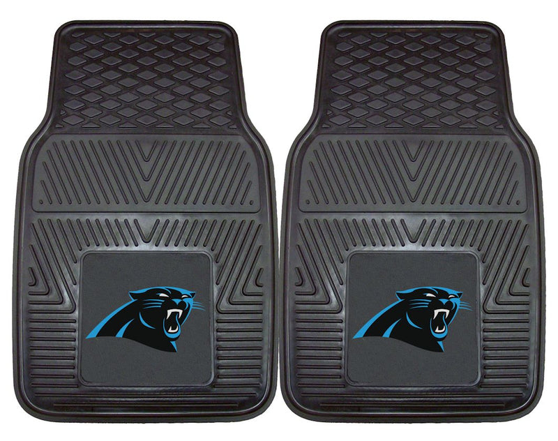 Carolina Panthers Car Mats Heavy Duty 2 Piece Vinyl
