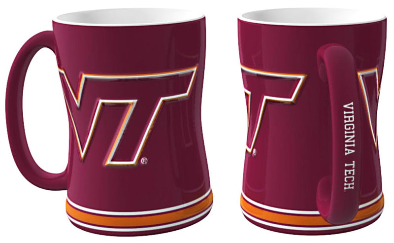 Virginia Tech Hokies Coffee Mug - 14oz Sculpted Relief