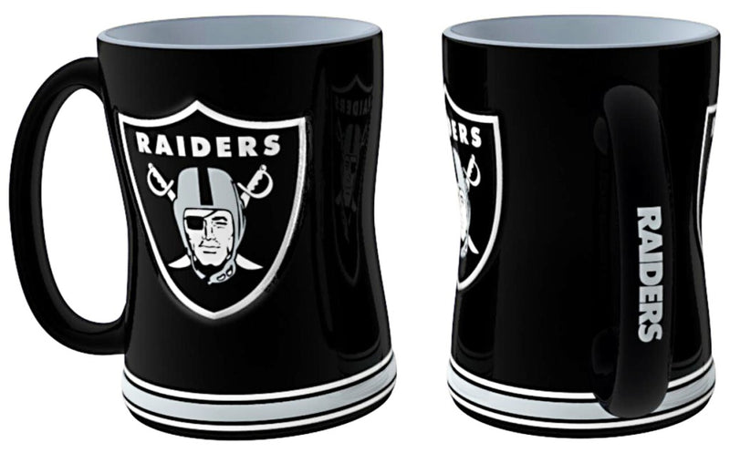 Las Vegas Raiders Coffee Mug - 14oz Sculpted Relief
