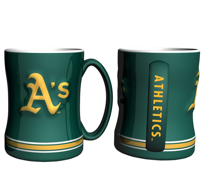Oakland Athletics Coffee Mug - 14oz Sculpted Relief