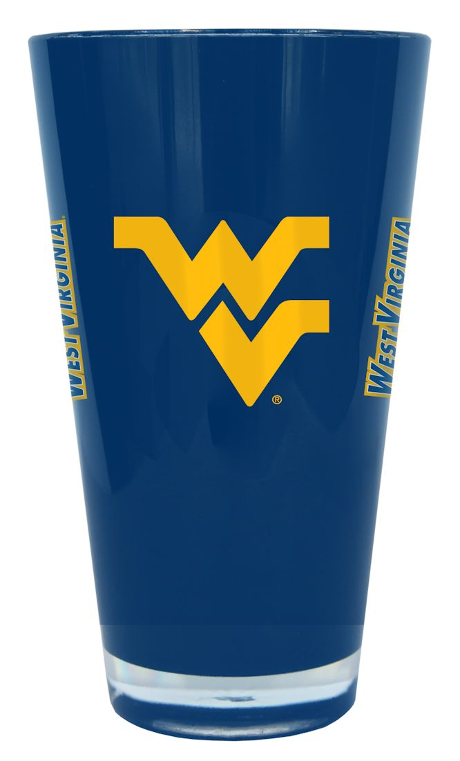 West Virginia Mountaineers 20 oz Insulated Plastic Pint Glass