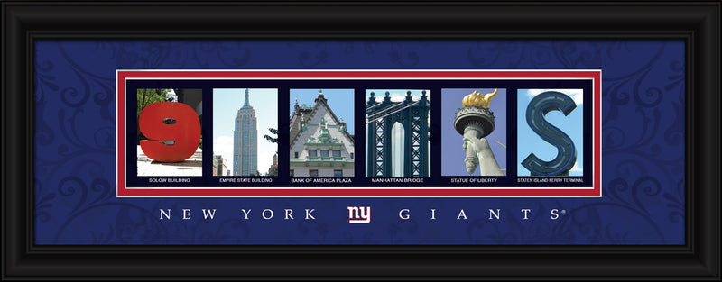New York Giants Letter Art Print