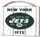 New York Jets Small Plaque - Weathered Logo