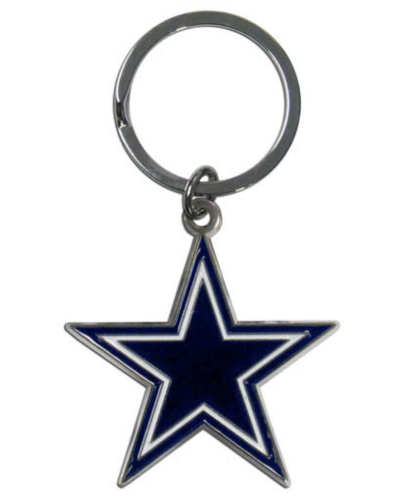 Dallas Cowboys Chrome Logo Cut Keychain