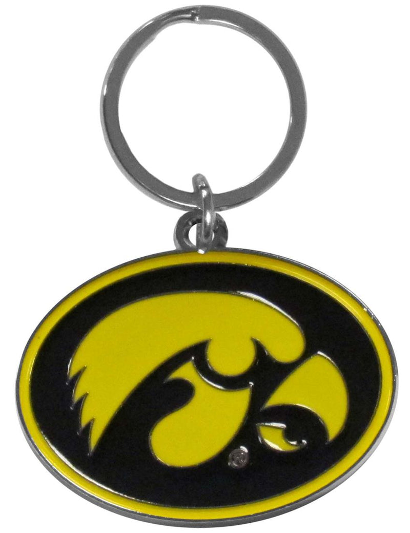 Iowa Hawkeyes Chrome Logo Cut Keychain