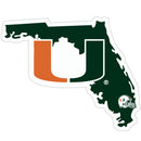 Miami Hurricanes Decal Home State Pride Style