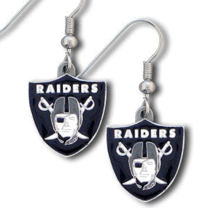 Oakland Raiders Dangle Earrings