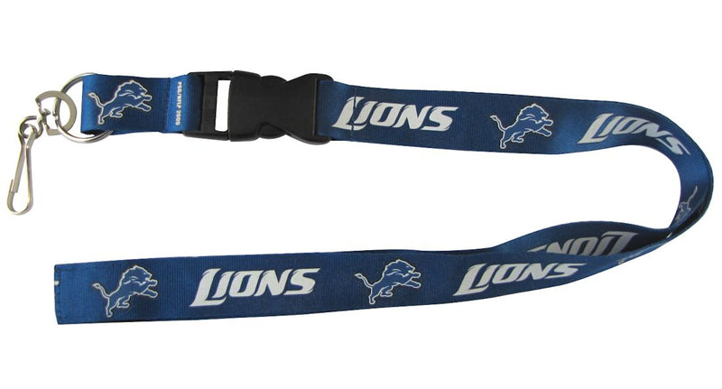 Detroit Lions Lanyard - Breakaway with Key Ring