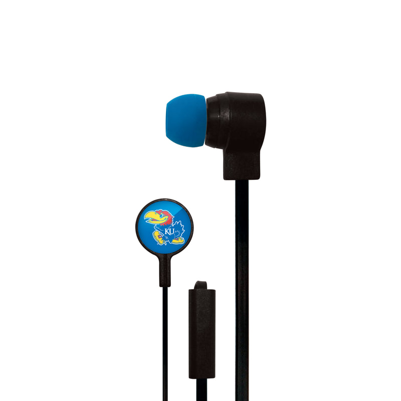 Kansas Jayhawks Big Logo Ear Buds