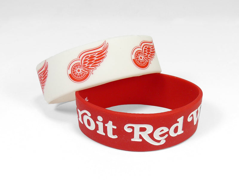 Detroit Red Wings Bracelets - 2 Pack Wide - Special Order