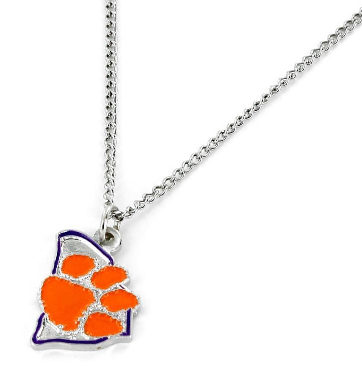 Clemson Tigers Necklace State Design