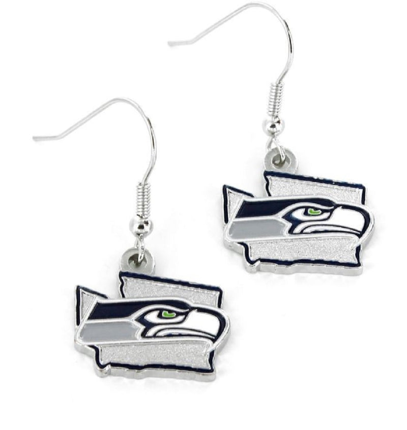 Seattle Seahawks Earrings State Design