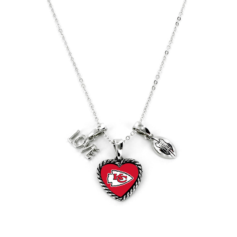 Kansas City Chiefs Necklace Charmed Sport Love Football