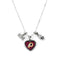 Washington Redskins Necklace Charmed Sport Love Football