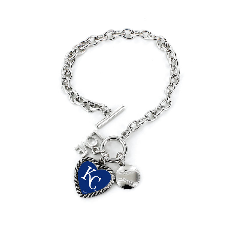 Kansas City Royals Bracelet Charmed Sport Love Baseball