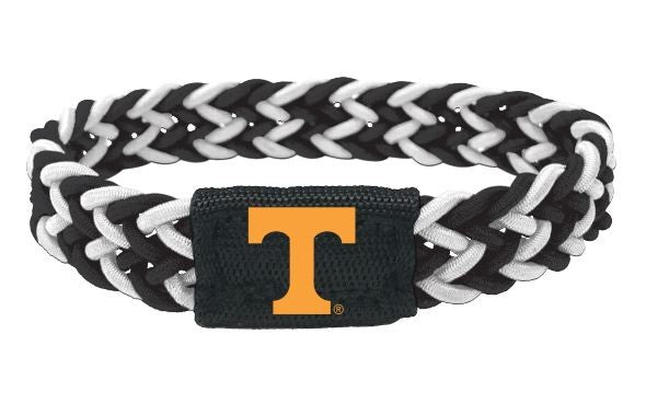 Tennessee Volunteers Bracelet Braided Black and White - Special Order