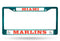 Miami Marlins License Plate Frame Metal Aqua - Special Order