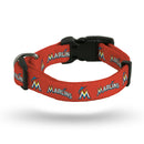 Miami Marlins Pet Collar Size S