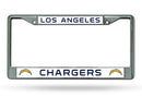 Los Angeles Chargers License Plate Frame Chrome