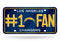 Los Angeles Chargers License Plate #1 Fan Special Order