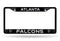 Atlanta Falcons License Plate Frame Chrome Black