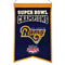Los Angeles Rams Banner Wool Champions St. Louis Throwback