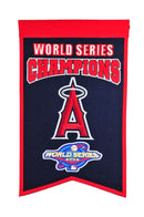 Los Angeles Angels Banner 14x22 Wool Championship