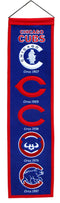Chicago Cubs Banner 8x32 Wool Heritage