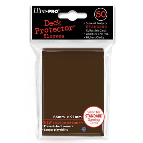 Deck Protectors - Solid - Brown (One Pack of 50)