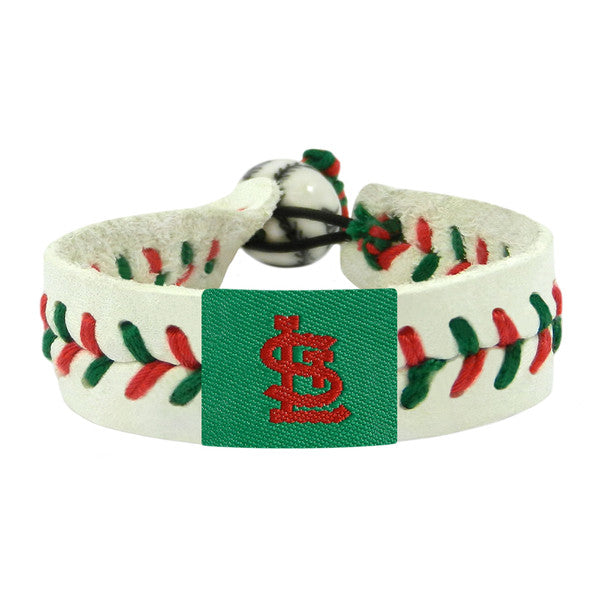 St. Louis Cardinals Bracelet Baseball Holiday Design