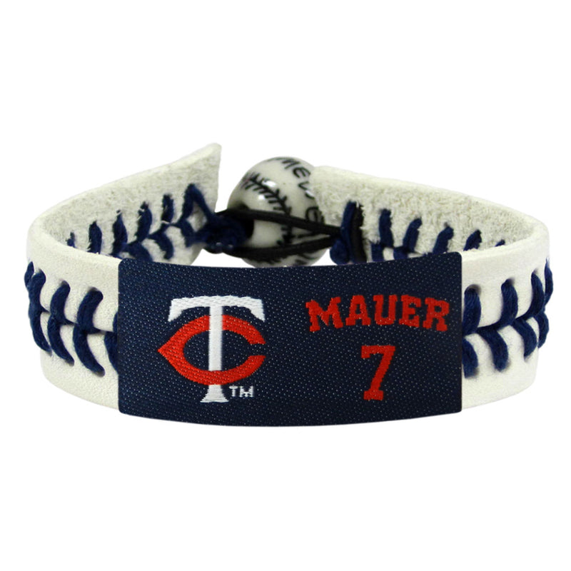 Minnesota Twins Bracelet Genuine Baseball Joe Mauer