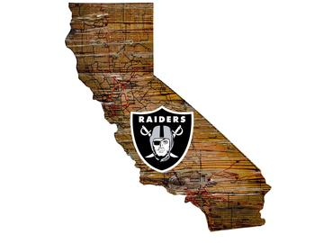 Oakland Raiders Wood Sign - State Wall Art