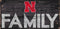 Nebraska Cornhuskers Sign Wood 12x6 Family Design - Special Order
