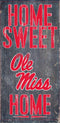 Mississippi Rebels Wood Sign - Home Sweet Home 6x12 - Special Order