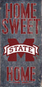 Mississippi State Bulldogs Wood Sign - Home Sweet Home 6x12 - Special Order