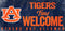 Auburn Tigers Sign Wood 12x6 Fans Welcome Design
